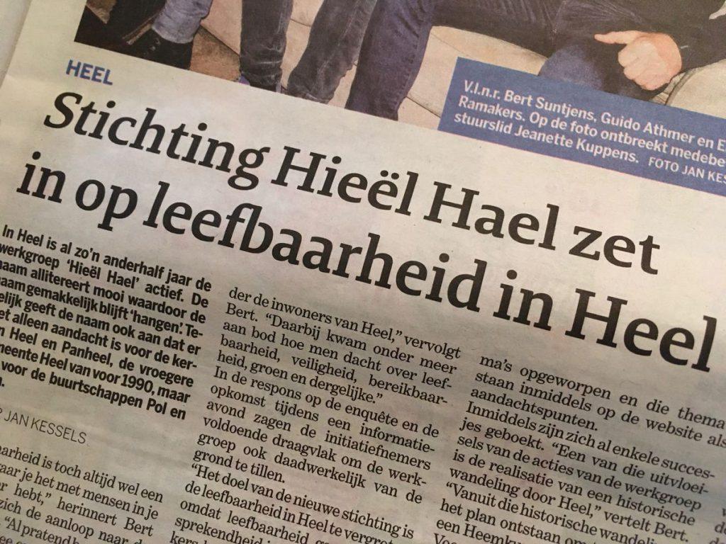 Stichting Hieël Hael zet in op leefbaarheid in Heel