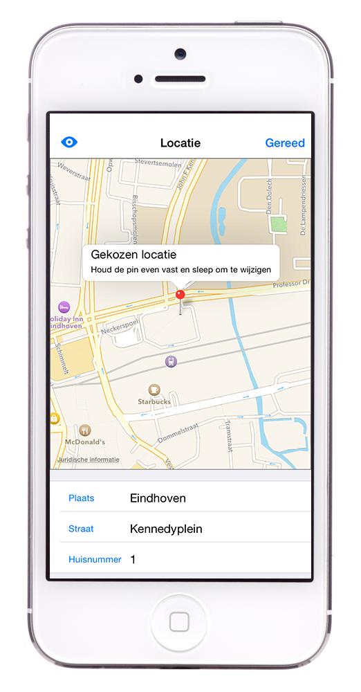 BuitenBeter app: locatie
