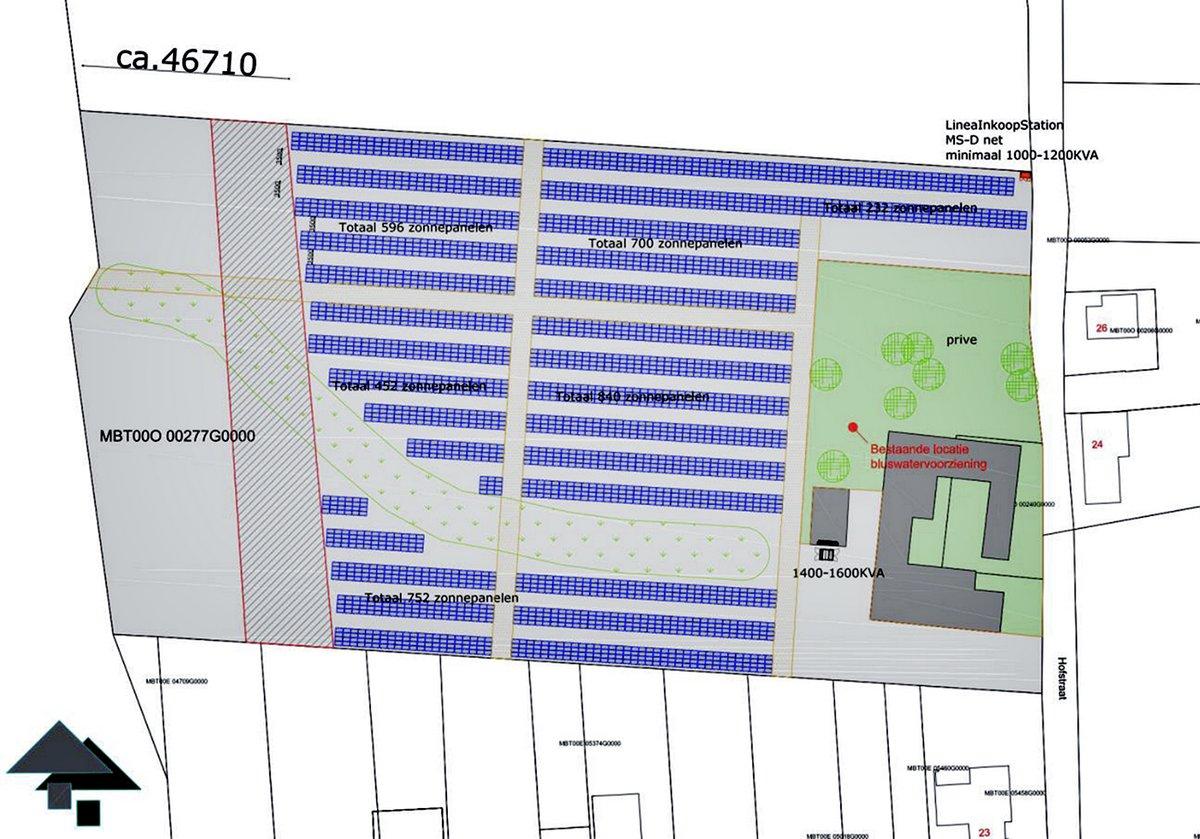 Coöperatie Duurzaam Maasgouw: zonneweide Hofstraat opstelling 3572 panelen